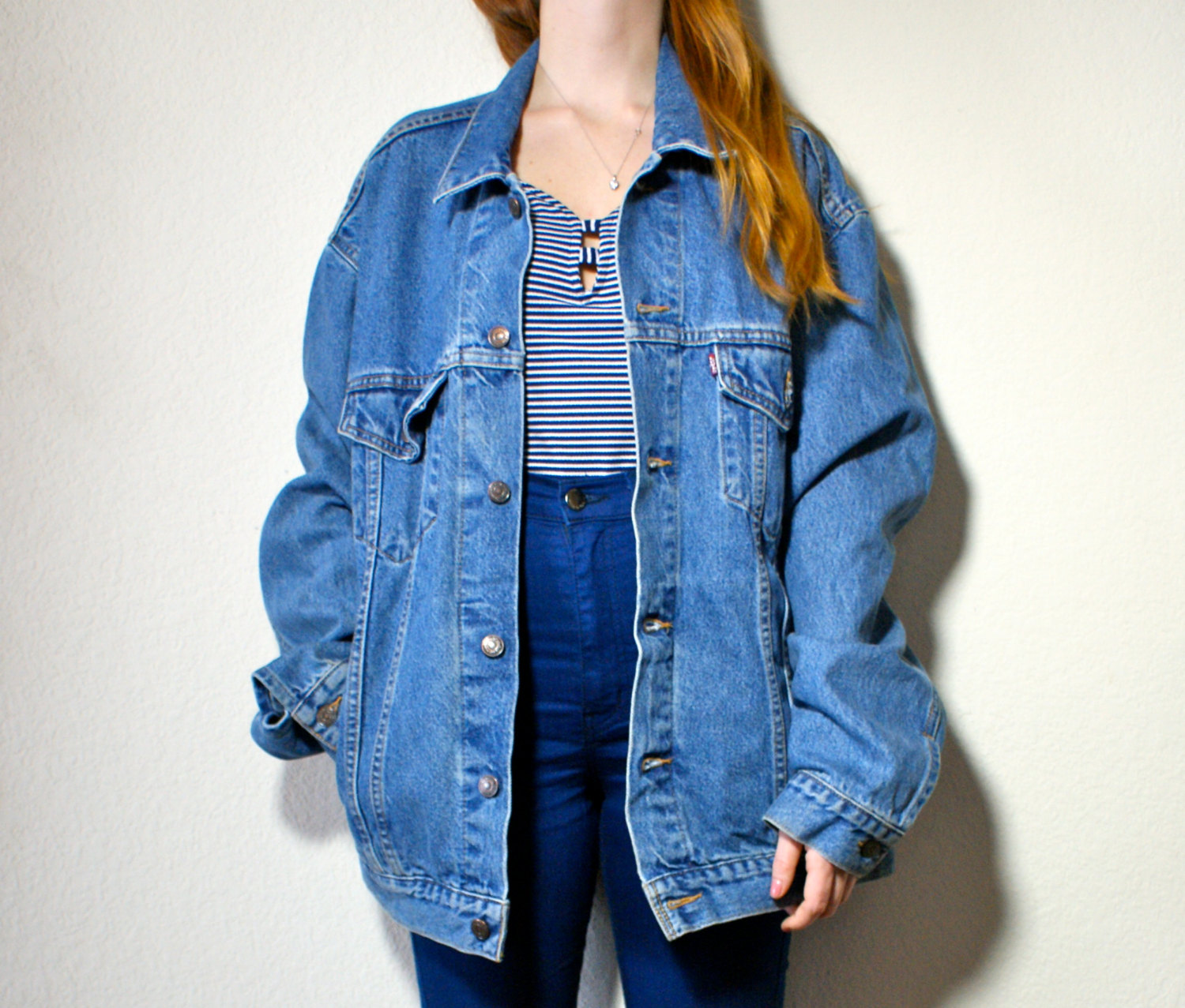 Oversized jean jacket cheap – Novelties of modern fashion photo blog
