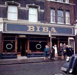 A9F9N1 BIBA boutique in Kensington Church Street their second location in 1967